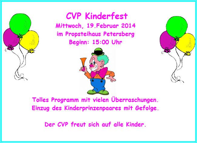 einladung zum kinderfest! : carnevalverein petersberg e.v., Einladungen