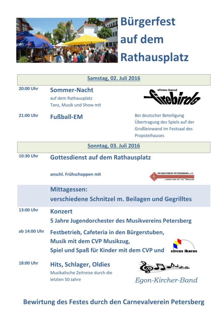 Plakat Bürgerfest 2016