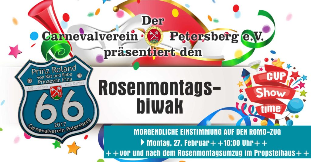 Rosenmontagsbiwak 2017